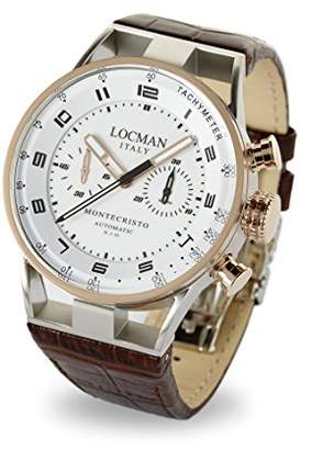 Locman Italy Men's 'Montecristo Auto Chrono' Automatic Steel-Two-Tone and Leather Dress Watch