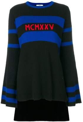 Fendi high low hem sweater