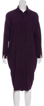 Zero Maria Cornejo Long Sleeve Silk Dress