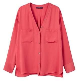 Violeta BY MANGO Pockets flowy shirt