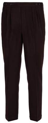 Massimo Alba Micro Houndstooth Wool Trousers - Mens - Red