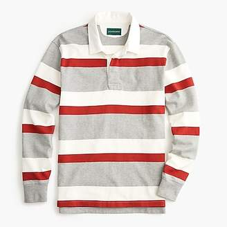 J.Crew 1984 Rugby Polo In Red Stripe