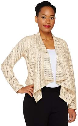 G.I.L.I. Got It Love It G.I.L.I. Faux Leather Open Front Perforated Jacket