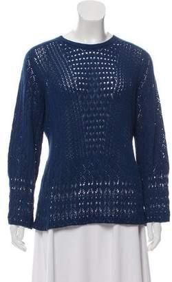 Oscar de la Renta Knit Silk-Blend Top