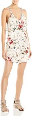 Haute Hippie Narrow Escape Ruffled Floral-Print Silk Mini Dress