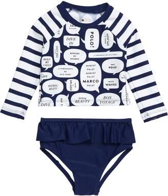 Kate Spade Speech Bubble Two-Piece Swimsuit