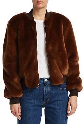 Elizabeth and James Women's Ellington Faux Fur Bomber Jacket