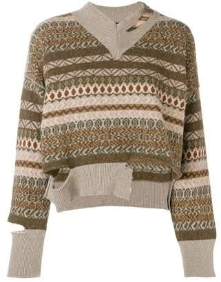 Cavallini Erika distressed cropped sweater