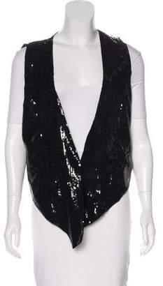 Rachel Zoe Embellished V-Neck Vest