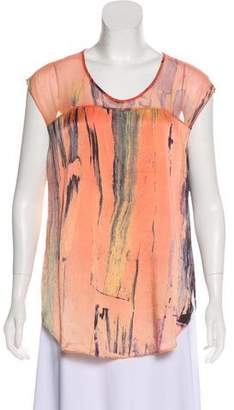 Elizabeth and James Sleeveless Silk Top