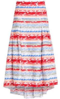 Peter Pilotto Striped Cotton-Blend Midi Skirt