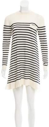 Sacai Luck Striped Sweater Dress