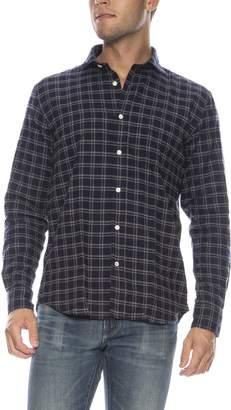 Hartford Paul Checkered Flannel Button Down