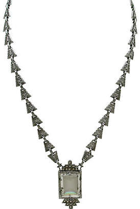 One Kings Lane Vintage Edwardian Filligree & Glass Necklace - Thanks for the Memories