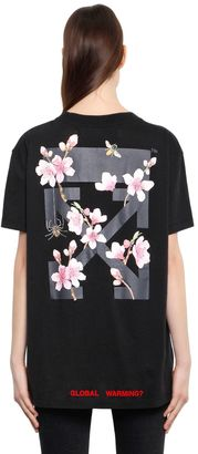 Cherry Blossom Oversized Jersey T-Shirt $340 thestylecure.com