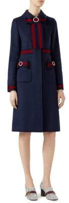 Gucci Ribbon-Detail Wool Coat