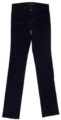 J Brand Low-Rise Straight Pants Navy Low-Rise Straight Pants