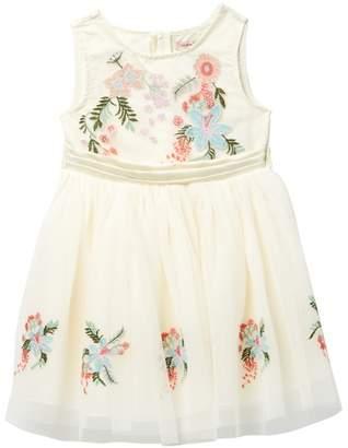 Nanette Lepore Embroidered Floral Dress (Toddler & Little Girls)
