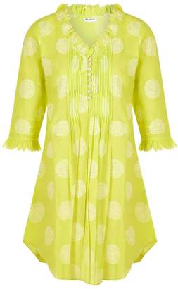 At Last... Annabel Cotton Tunic Neon Lime