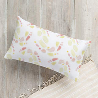 Buy Paint Palette: Peaches & Creams Self-Launch Lumbar Pillows!