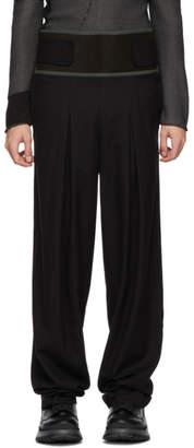 Kiko Kostadinov Black Wool High-Waisted Trousers