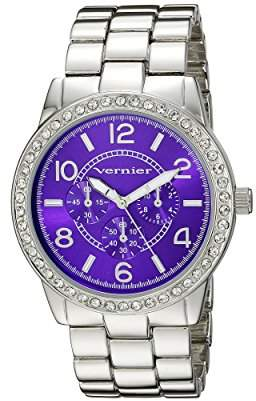 Vernier Women's VNR11194SS Analog Display Japanese Quartz Silver Watch
