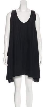 Nicole Miller Sleeveless Mini Dress Black Sleeveless Mini Dress