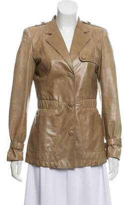 Versace Leather Structured Jacket Leather Structured Jacket