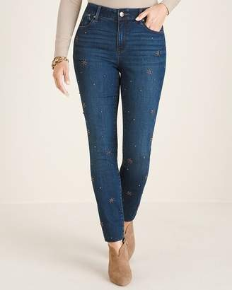 Chico's Chicos Secret Stretch Scattered Starburst Jeggings
