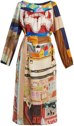 DAY Birger et Mikkelsen RIANNA + NINA Vintage patchwork silk midi dress