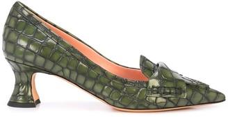 Rochas croc pattern pumps