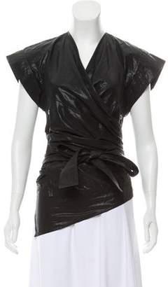 Isabel Marant Heather Metallic Wrap Top w/ Tags