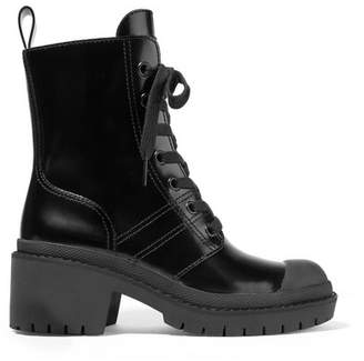 Marc Jacobs Patent-leather Ankle Boots - Black