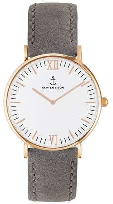 KAPTEN & SON Campina Leather Strap Watch, 36mm