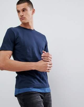 Jack and Jones Originals T-Shirt With Stepped Hem Detail