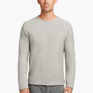James Perse SPACED JERSEY DOUBLED RAGLAN