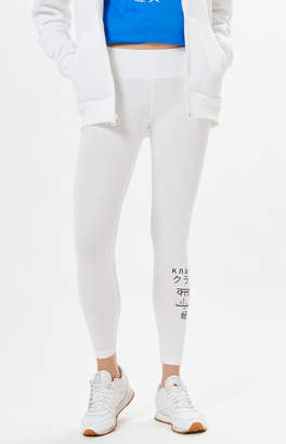 Reebok White Graphic Leggings