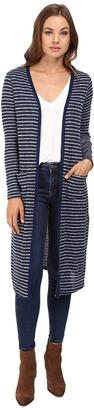Splendid Alline Stripe Loose Knit Duster Cardigan $148 thestylecure.com
