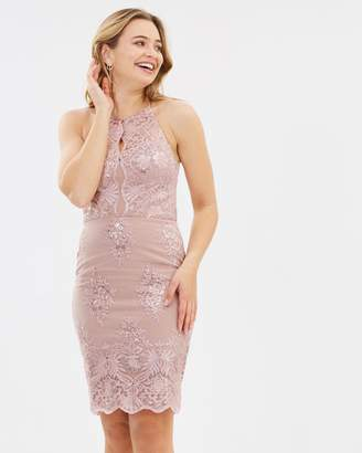 Lipsy Sequin Lace Dress