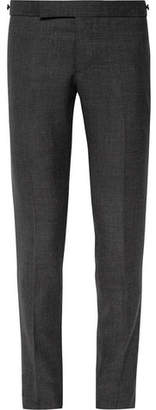 Thom Browne Charcoal Slim-fit Wool Trousers