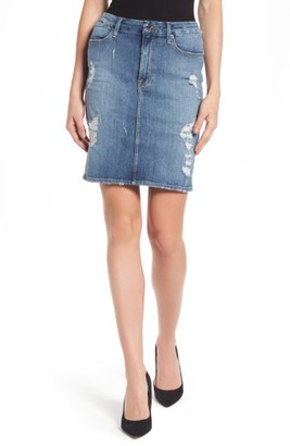 Women's Good American High Waist Denim Pencil Skirt $155 thestylecure.com