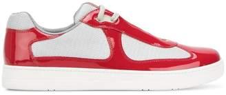 Prada panelled low-top sneakers