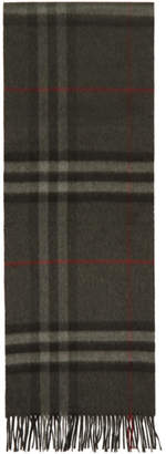Burberry Grey Check The Classic Cashmere Scarf