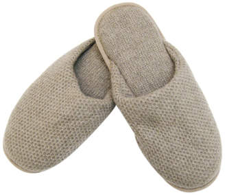Honeycomb Cashmere Slippers $223 thestylecure.com