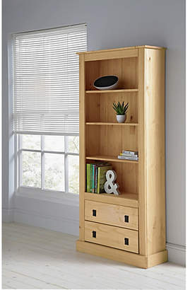 At Argos Home 3 Shelves 2 Drawer Tall Wide Solid Pine Bookcase