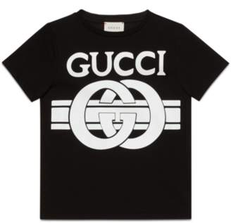 Gucci Children's T-shirt with leopard