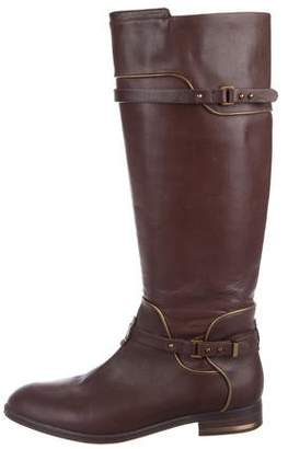 BCBGMAXAZRIA Leather Knee-High Boots