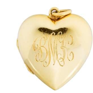 Tiffany & Co. 18K Yellow Gold Heart Locket Pendant