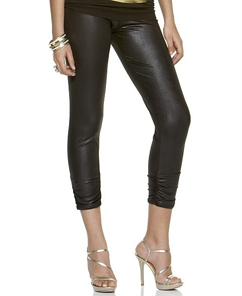 Baby Phat Shiny Ruched Leggings