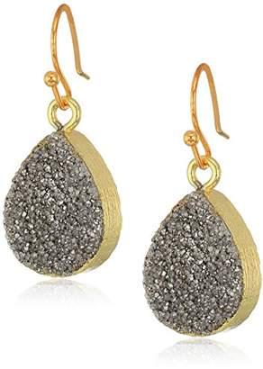 Panacea Silver Teardrop Drusy Drop Earrings